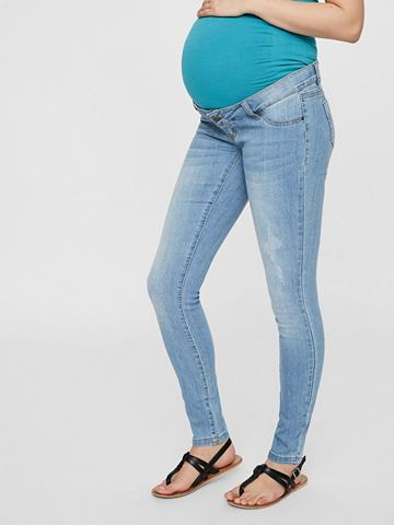 MAMALICIOUS Hellblaue gewebte джинсы для беременны...