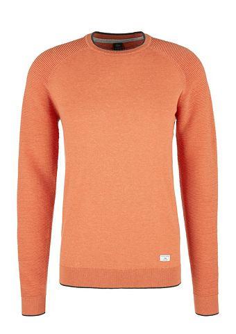 Пуловер с geripptem рукав