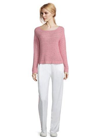 Трикотажный пуловер с Struktur