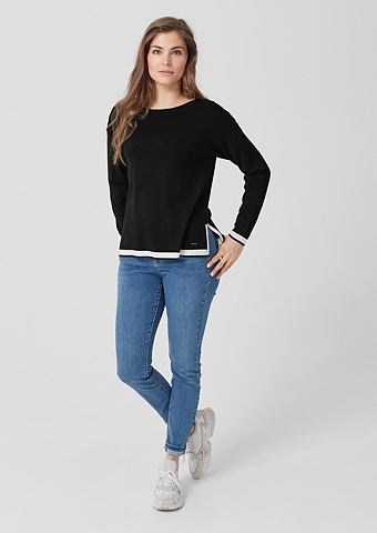 TRIANGLE Пуловер с контраст