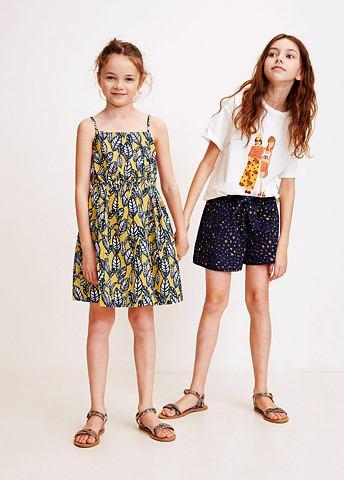 MANGO KIDS Платье с Blattmuster
