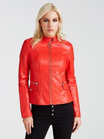 GUESS Куртка из искусственной кожи