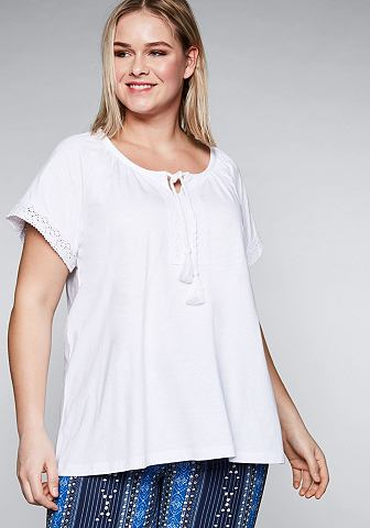 Sheego блуза с круглым вырезом