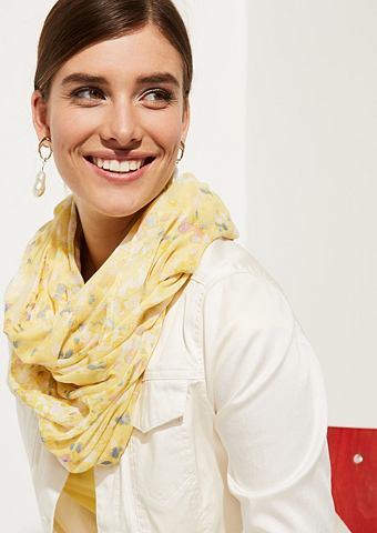 Нежный шарф с утонченный цветочным узо...