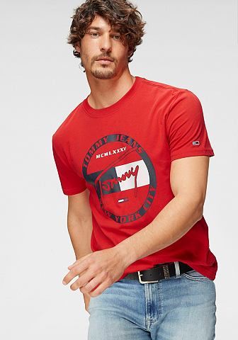 TOMMY JEANS Tommy джинсы футболка »TJM CIRCL...