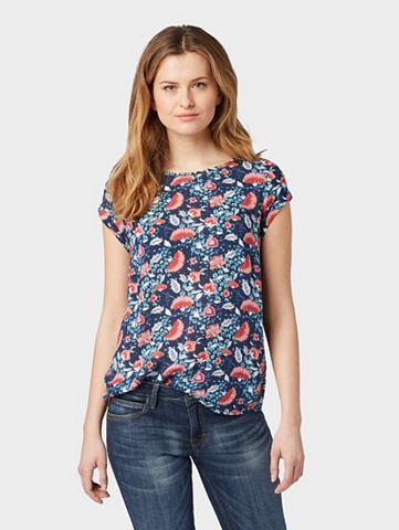 TOM TAILOR Блузка-футболка »Gemustertes Blu...