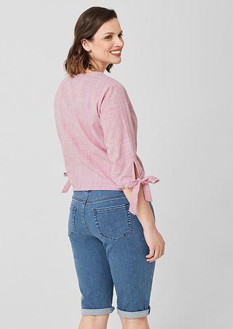 TRIANGLE Curvy: бермуды джинсовые