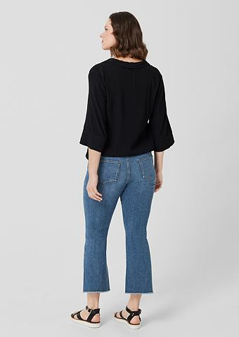 Curvy Kick Flared Leg: Cropped-Jeans