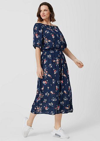 Платье из крепа с sommerlichem узор