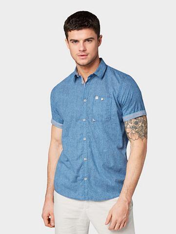 TOM TAILOR Рубашка с короткими рукавами »Ge...