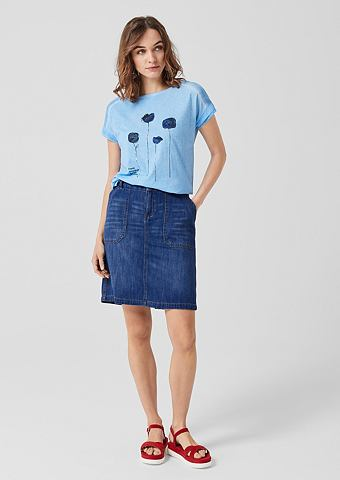 Юбка джинсовая из Leinen-Blend