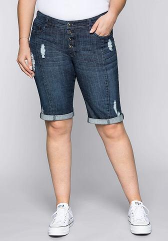 SHEEGO Бермуды джинсовые