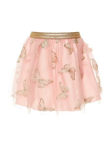 NAME IT Schmetterlingsstickerei тюль юбка