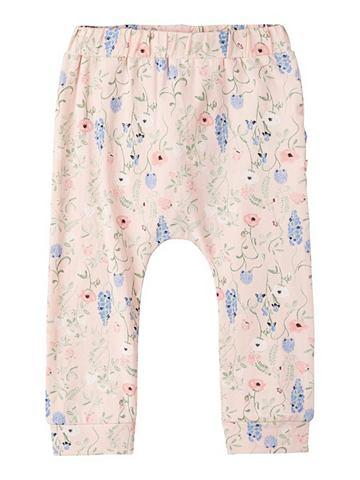 NAME IT Цветочным узором Baumwoll брюки