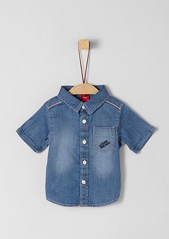Рубашка джинсовая с карман для Babys
