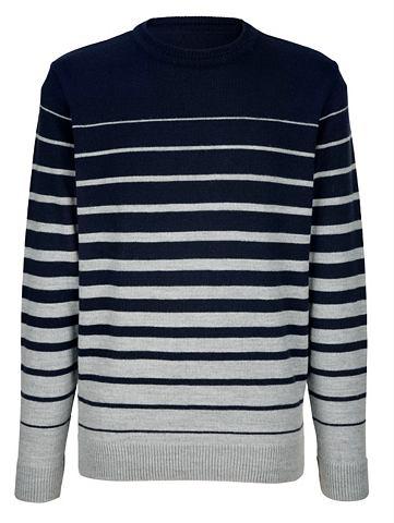 Пуловер с Kontraststreifenmuster