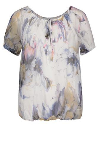 Блузка-рубашка с цветочным узором