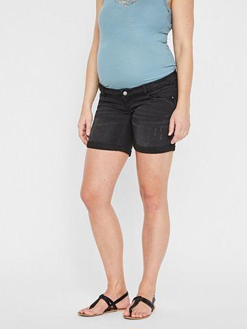 Узкий форма шорты для беременных