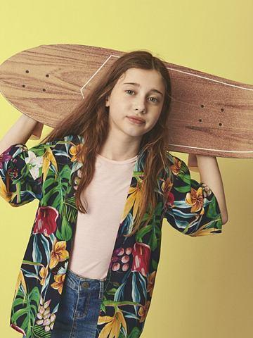 Цветочным узором кимоно халат