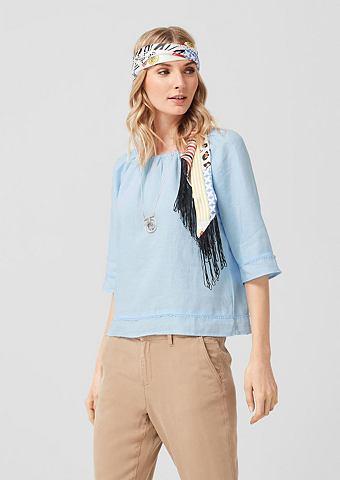 Блузка в стиле кармен из лен
