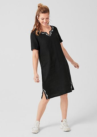 Платье-туника из лен