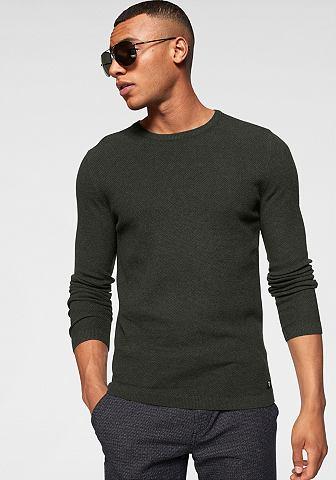 TOM TAILOR джинсы пуловер с круглым вы...