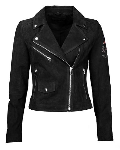Куртка кожаная с асимметричный замок &...