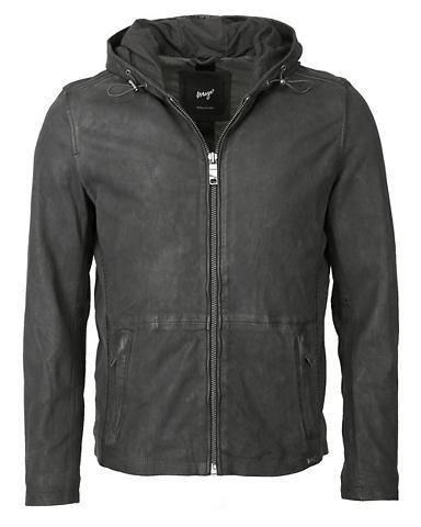 Куртка кожаная с капюшон »Baton&...