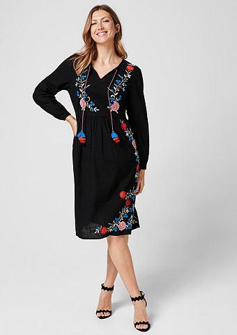 Платье-туника с вышивка