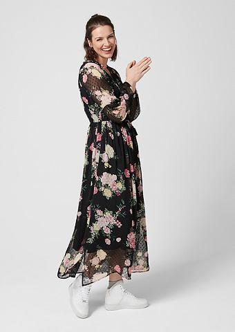 Платье-макси длинное из Plumetis