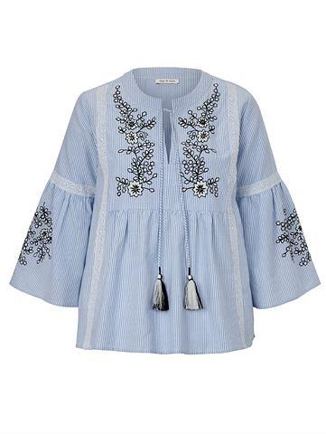 Блуза туника блуза с окантовка