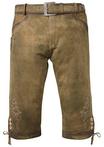 Брюки кожаные 3/4 длины Herren с ремен...