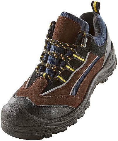 S1P ботинки защитные из braunem кожана...