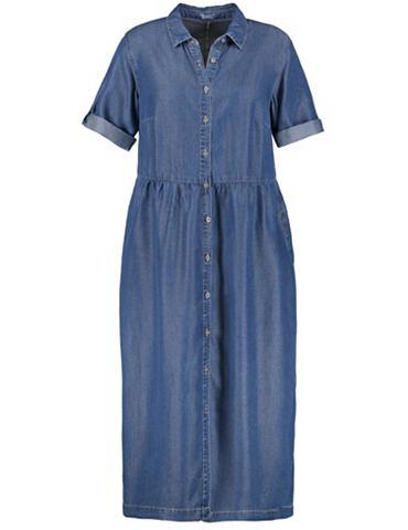 Платье длинный рукав короткая Джинсово...