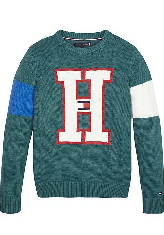 Трикотажный пуловер »H BADGE SWE...