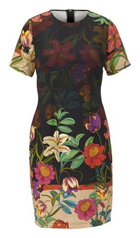 Платье с цветочный узор