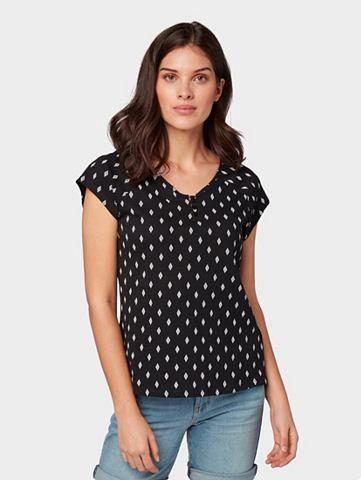 Футболка »Henley-Shirt с Print&l...