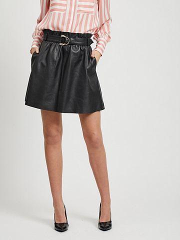 Короткий кожаная юбка