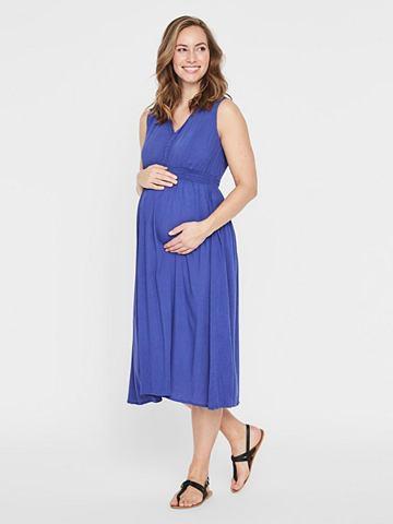 Gewebtes платье для беременных коротка...