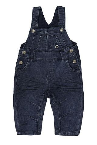 Брюки с подтяжками джинсы