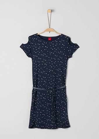 Cold платье с открытыми плечьями с рем...