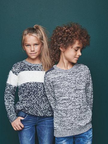 Блестящий орнамент трикотажный пуловер...