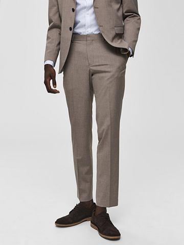 Узкий форма бежевый костюмные брюки