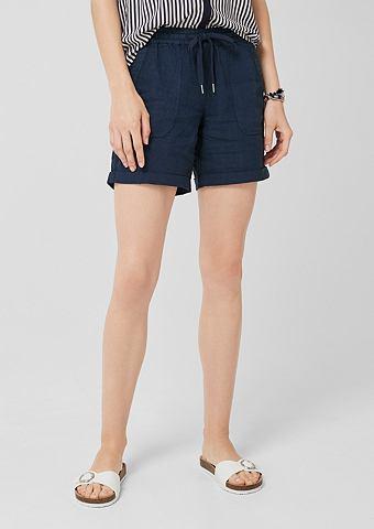 Элегантный шорты: брюки льняные