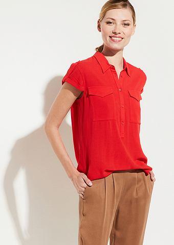 Блузка с легкой ткани с Brusttaschen