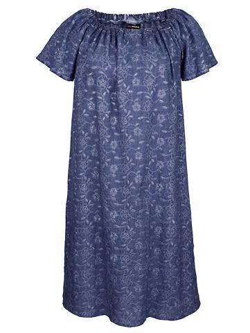Платье с dezenten Blumenstickereien