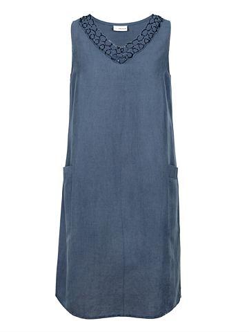 Платье из Baumwoll-Leinen ткань