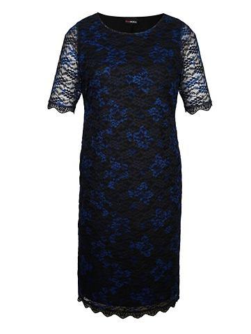 Кружевное платье с прозрачная Halbarm