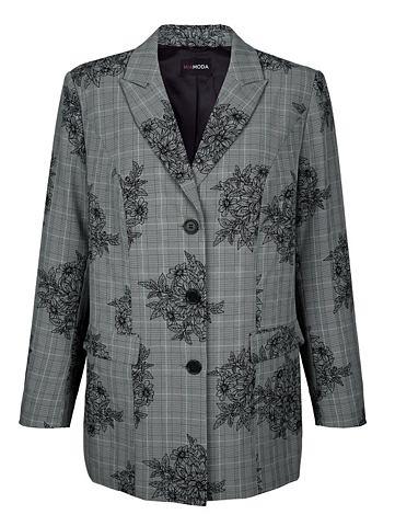 Пиджак с c цветочным узором