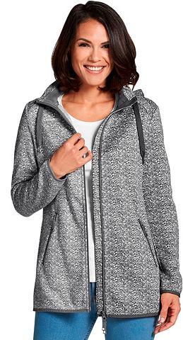 Флисовый пуловер с съемный капюшон